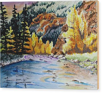 East Clear Creek Wood Print by Jimmy Smith