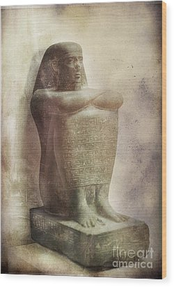 Egyptian Pharaoh. Wood Print by Mohamed Elkhamisy