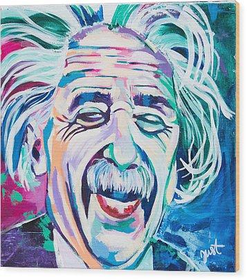 Einstein Wood Print