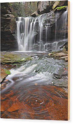 Wood Print featuring the photograph Elakala Fall by Dung Ma