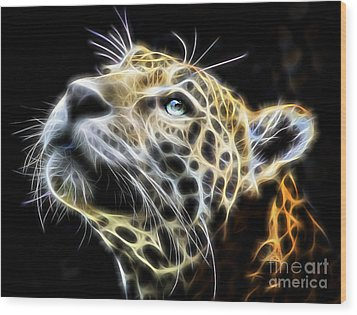 Electric Leopard Wall Art Collection Wood Print