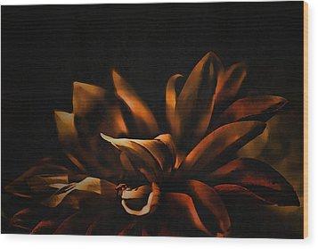 Elegance Wood Print by Bonnie Bruno