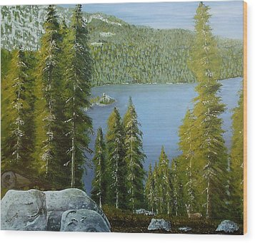 Emerald Bay - Lake Tahoe Wood Print