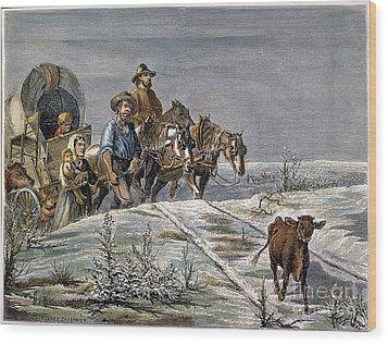 Emigrants, 1874 Wood Print by Granger