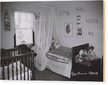 Emily Ashley Isabella Ava Wood Print