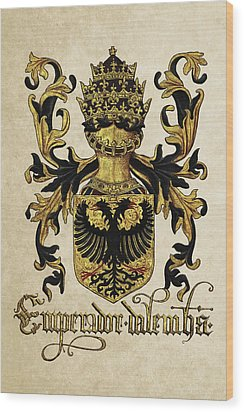 Emperor Of Germany Coat Of Arms - Livro Do Armeiro-mor Wood Print by Serge Averbukh
