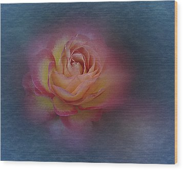 Wood Print featuring the photograph End Of September 2016 Rose by Richard Cummings