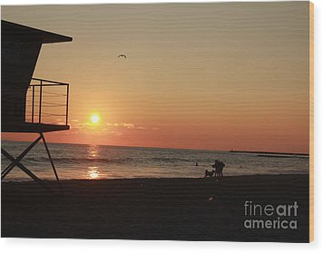 End Of The Day Wood Print by Kim Pascu