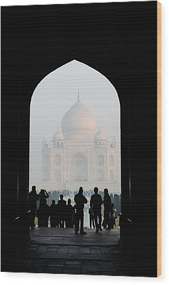 Entrance To The Taj Mahal Wood Print
