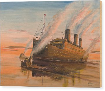 Evening Departure Wood Print by Christopher Jenkins
