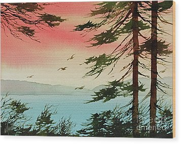 Wood Print featuring the painting Evening Light by James Williamson