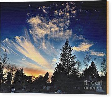 Evening Sky Wood Print