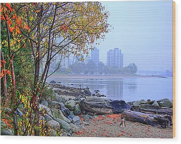 Fall At Stanley Park Wood Print by Dale Stillman