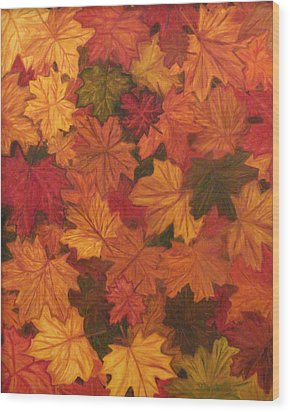 Fall Has Fallen Wood Print by Shiana Canatella