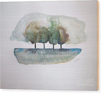 Family Trees Wood Print