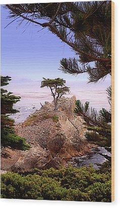 Famous Cypress Wood Print by Ron Regalado