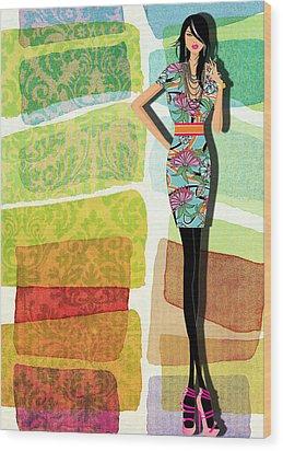 Fashion Illustration Wood Print by Ramneek Narang