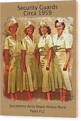 Female Security Guards Wood Print by Dean Gleisberg
