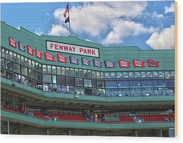 Wood Print featuring the photograph Fenway Park by Mitch Cat