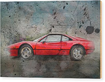 Wood Print featuring the photograph Ferrari 308 by Joel Witmeyer