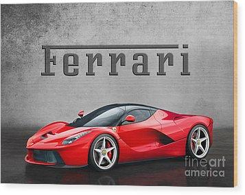 Ferrari La Ferrari Wood Print