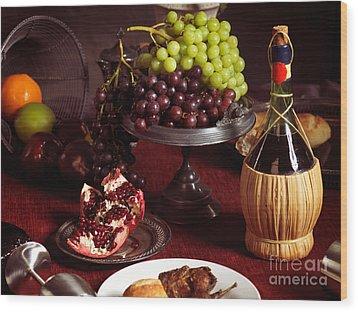 Festive Dinner Still Life Wood Print by Oleksiy Maksymenko
