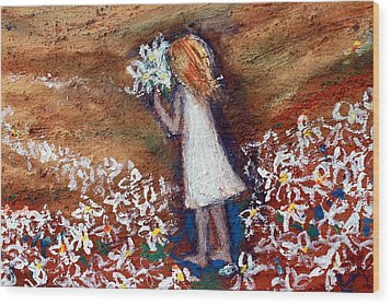 Field Of Flowers Wood Print by Winsome Gunning