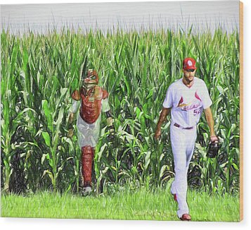 Field To Field Wood Print