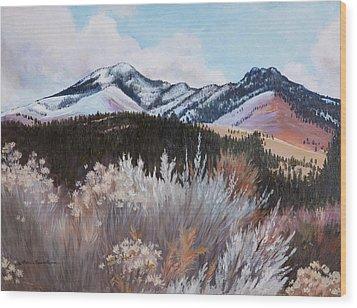 Fields Peak Wood Print