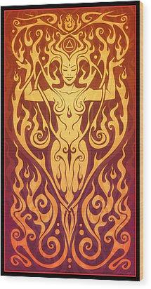 Fire Spirit Wood Print by Cristina McAllister