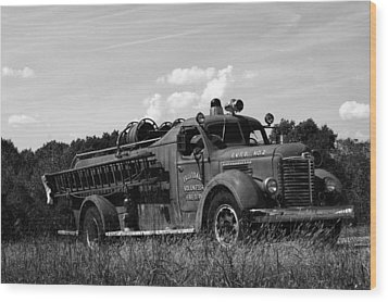 Fire Truck 2 Wood Print by Off The Beaten Path Photography - Andrew Alexander