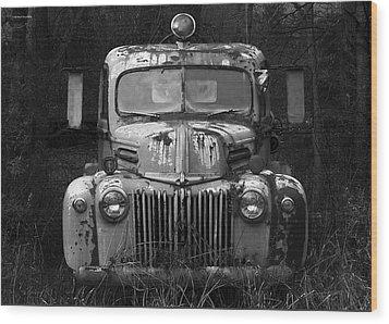 Fire Truck Wood Print by Ron Jones