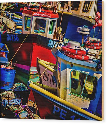 Fishing Fleet Wood Print