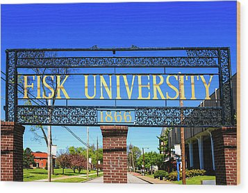 Fisk University Nashville Wood Print
