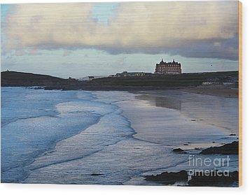 Wood Print featuring the photograph Fistral Beach by Nicholas Burningham