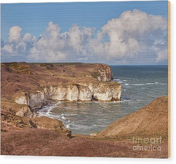 Wood Print featuring the photograph Flamborough Head by Colin and Linda McKie