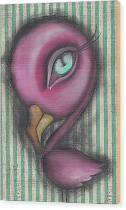 Flamingo Wood Print by Abril Andrade Griffith