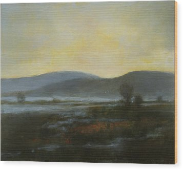 Wood Print featuring the painting Flash Flood Sold by Cap Pannell