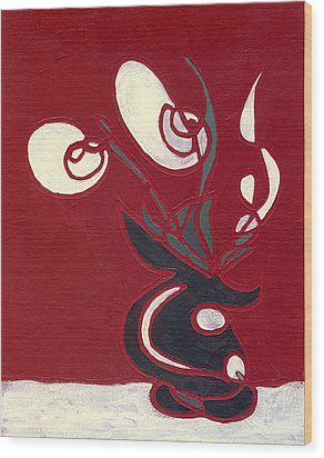 Floral Xvii Wood Print