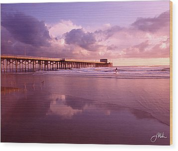 Florida Gold Coast Pier Wood Print by Joshua Miller