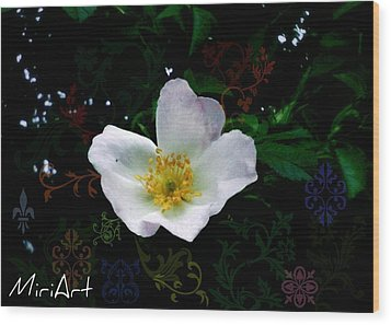 Wood Print featuring the photograph Flower Deco by Miriam Shaw