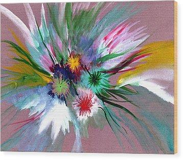 Flowers Wood Print by Anil Nene
