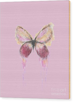 Flutterby  Wood Print by Herb Strobino