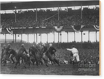 Football Game, 1925 Wood Print