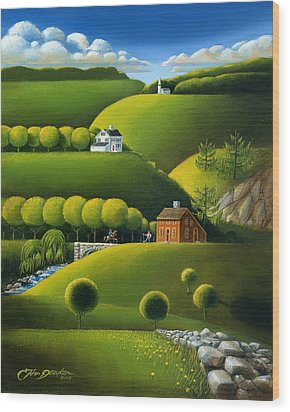 Foothills Of The Berkshires Wood Print by John Deecken