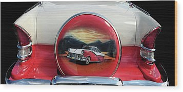 Ford Fairlane Rear Wood Print by Dave Mills