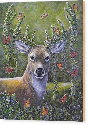 Forest Monarch Wood Print