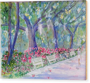 Forsyth Park Savannah Wood Print by Doris Blessington