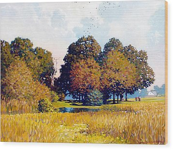 Foursome Wood Print by Kevin Lawrence Leveque