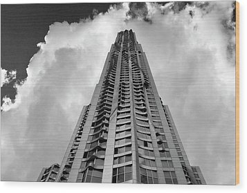 Frank Gehry High Rise Lower Manhattan Wood Print